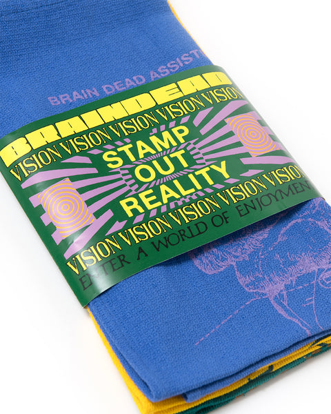Brain Research Tea Towel 3 Pack - Blue/Yellow/Green