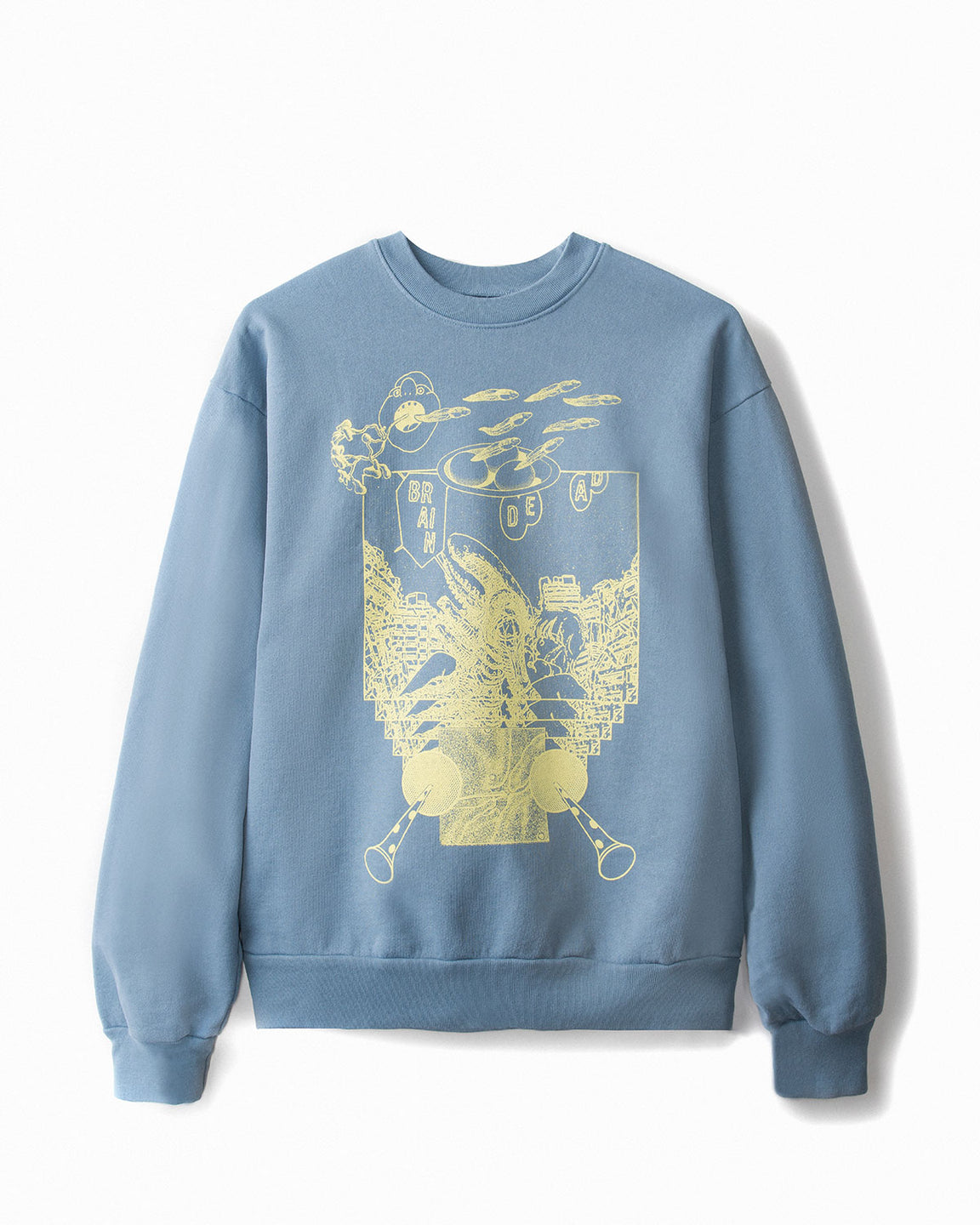 Breakfast with Terence McKenna Sweatshirt - Washed Blue