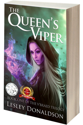 "AUTOGRAPHED ""The Queen's Viper"" paperback (Lesley Donaldson)"