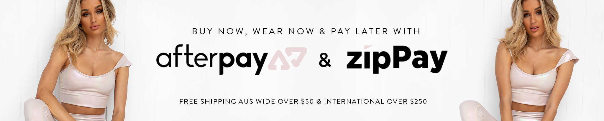 Pure Dash - Womens Activewear Online Australia Banner | Buy Now, Wear Now & Pay Later with afterpay and zipPay. Free shipping Aus wide over $50 and internationl over $250