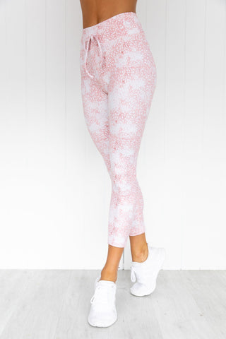 Lurv Sportswear Womens Leggings - Asana 7/8 in Peony