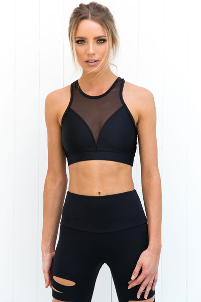 High Line Bra - Black - PURE DASH