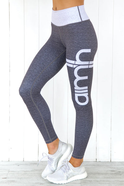 Grey Melange Signature Tights - PURE DASH