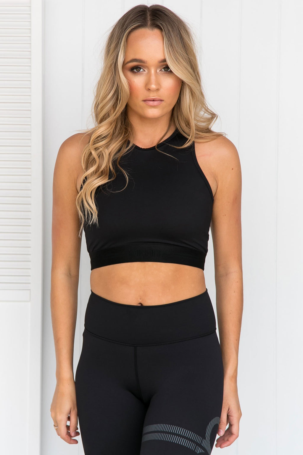 All Black Crop Top - PURE DASH
