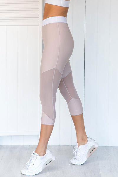 Scarlett Blush 3/4 Leggings