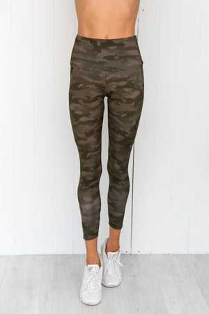 Moss Camo High Rise Leggings - PURE DASH
