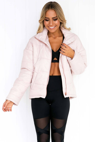Pure Bliss Puffer Jacket - Dusty Pink
