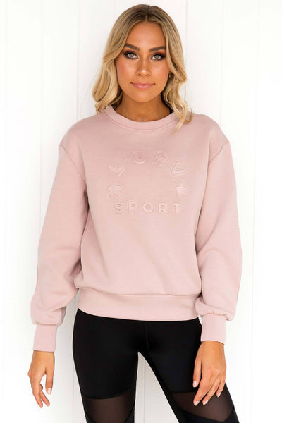 Fast Lane Sweater - Dusty Pink - PURE DASH