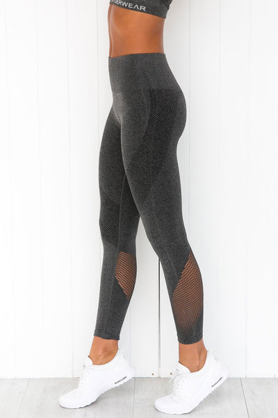Seamless Tights - Charcoal Marle
