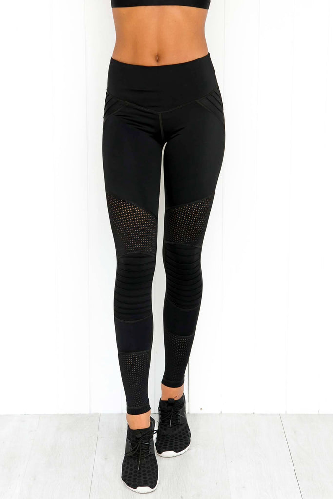 Race Ready Moto Leggings - Black