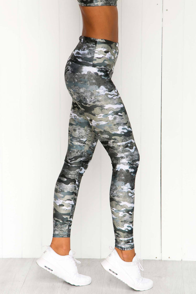 Marble Camo High Rise Leggings - PURE DASH