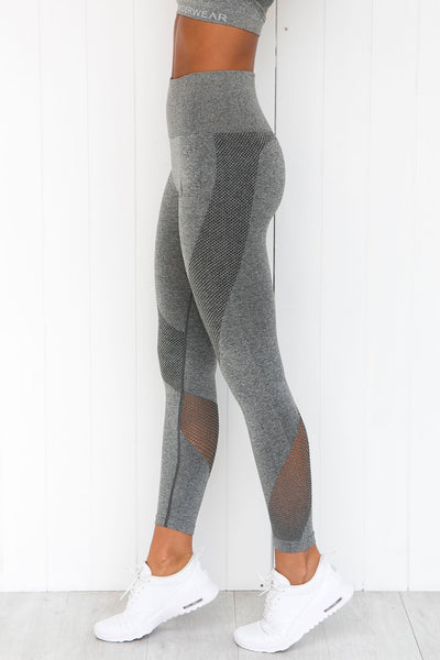 Seamless Tights - Light Grey Marle