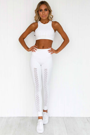Heavens Open Leggings - White - PURE DASH