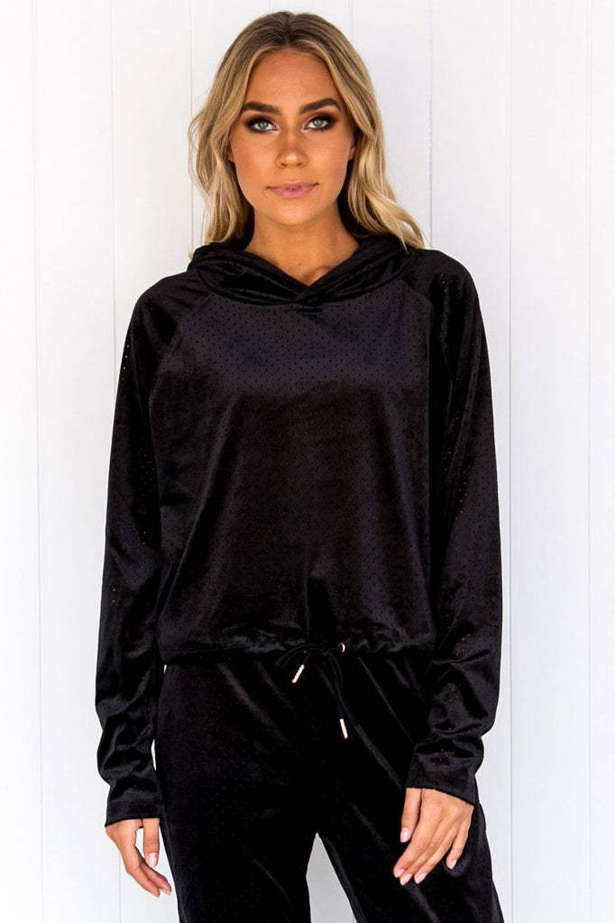 Velour Top - Black - PURE DASH