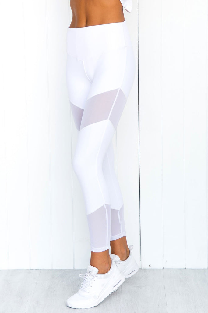 Natural Forces 7/8 Leggings - White - PURE DASH