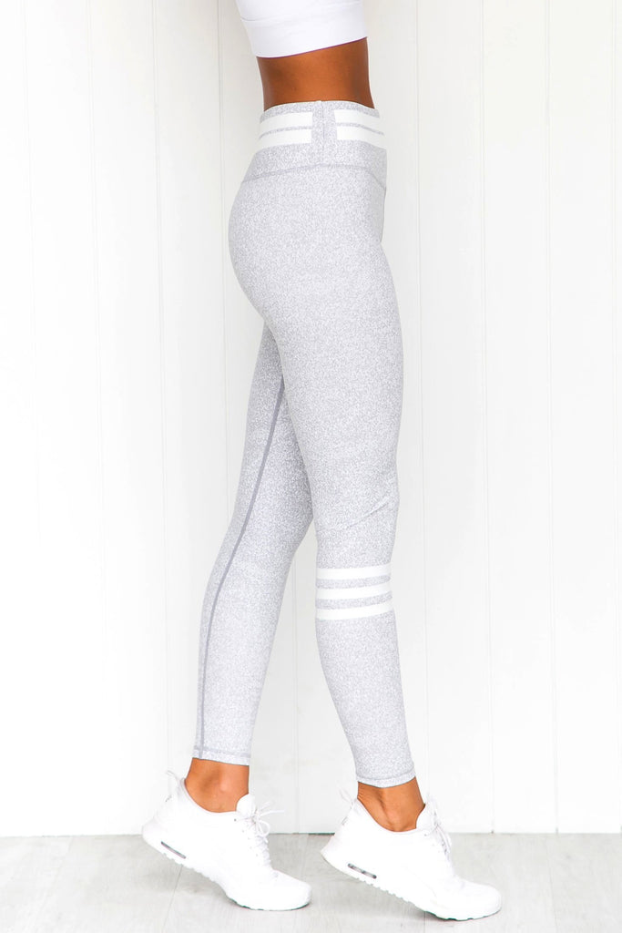 Giselle White Eclipse Leggings - PURE DASH