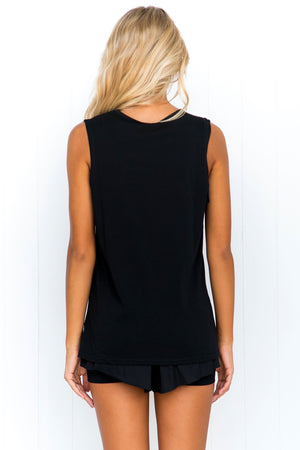 Easy Rider Crew Muscle Tank - Black - PURE DASH