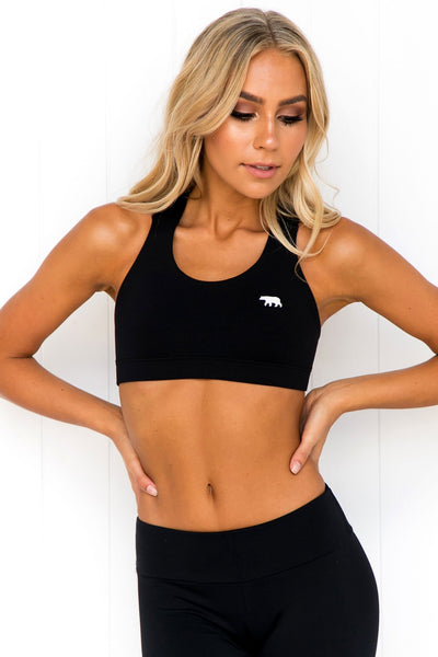 Power Up Crop - Black