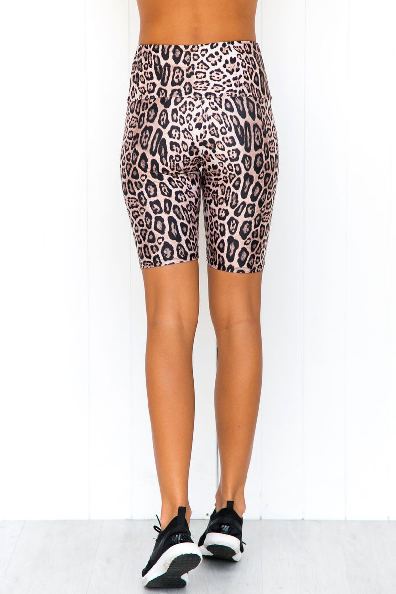 High Rise Bike Short - Leopard - PURE DASH