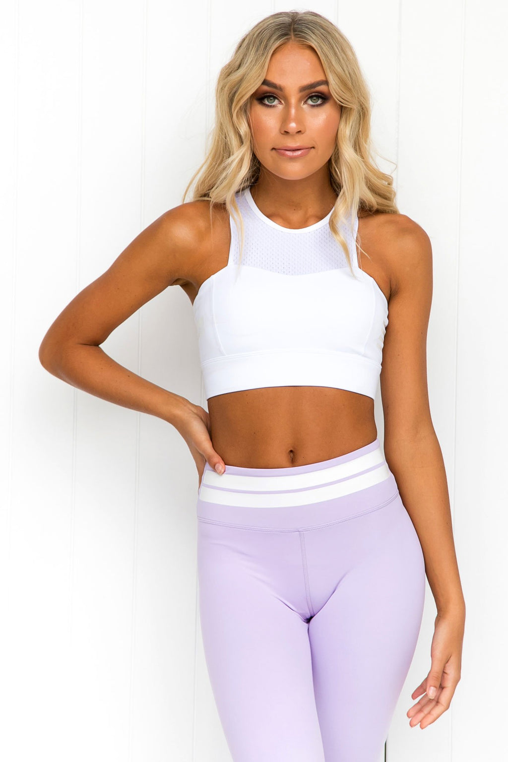 Isla Cloud White Sports Bra - PURE DASH