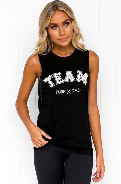 TEAM Pure Dash Tank - Black
