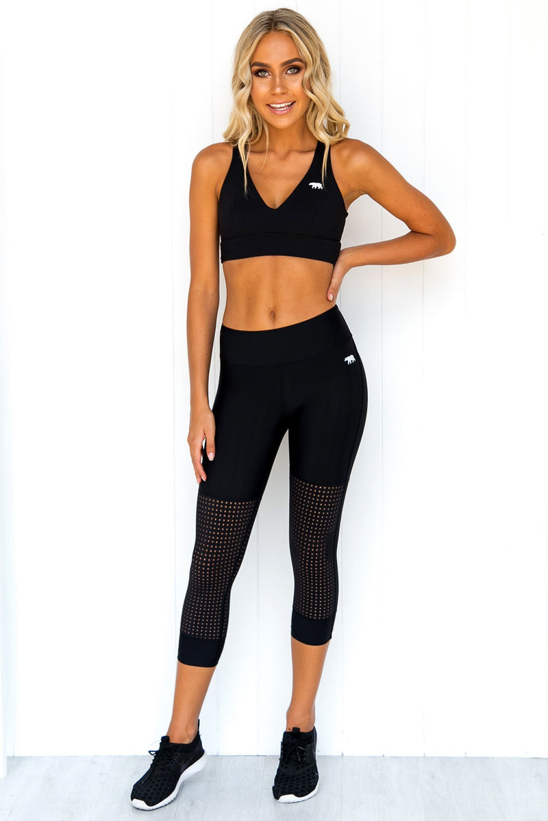 Runway Sprint 3/4 Tights - PURE DASH