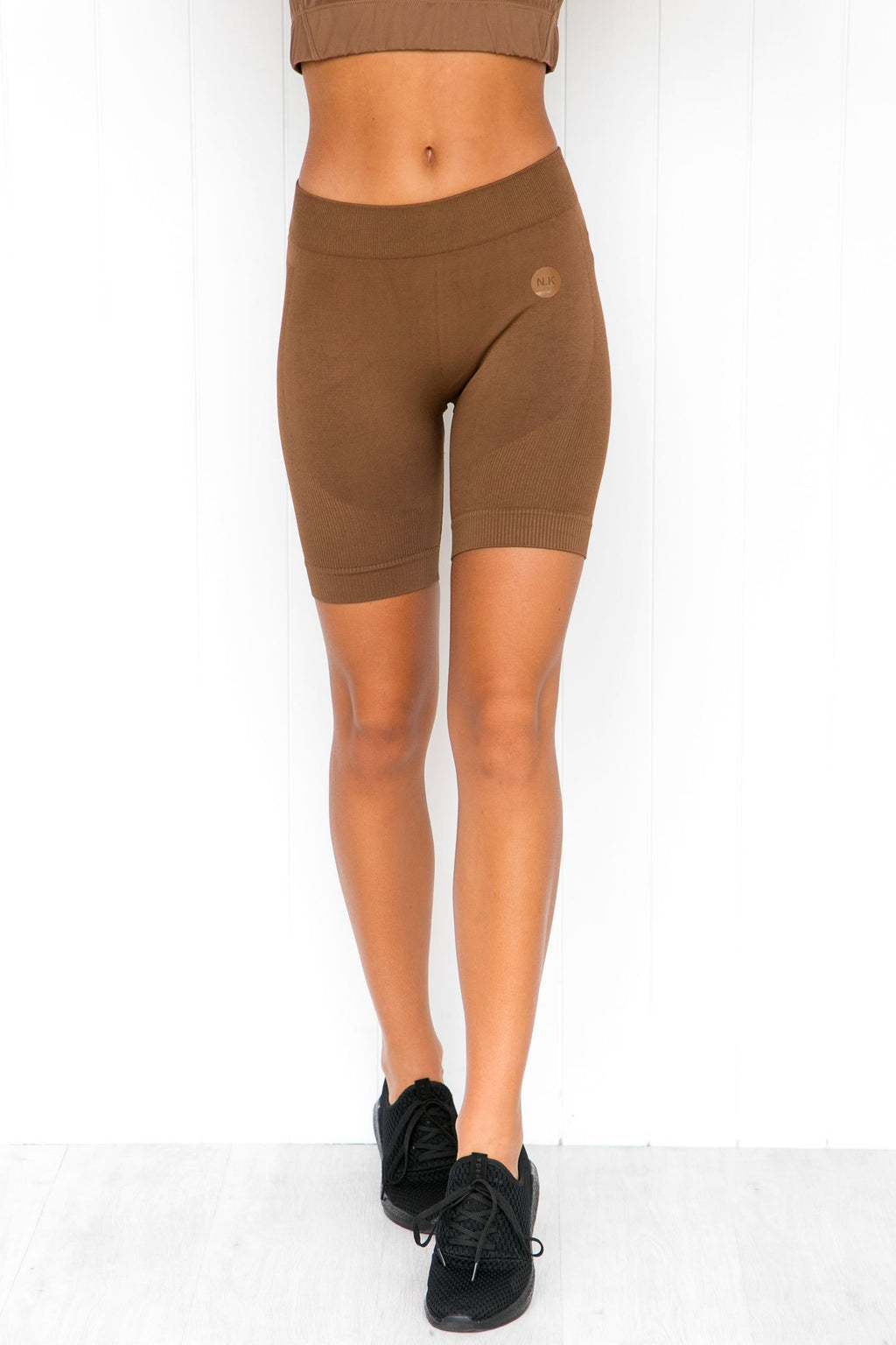 Brown Seamless Bike Shorts - PURE DASH