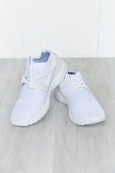 White F-Lo Trainers