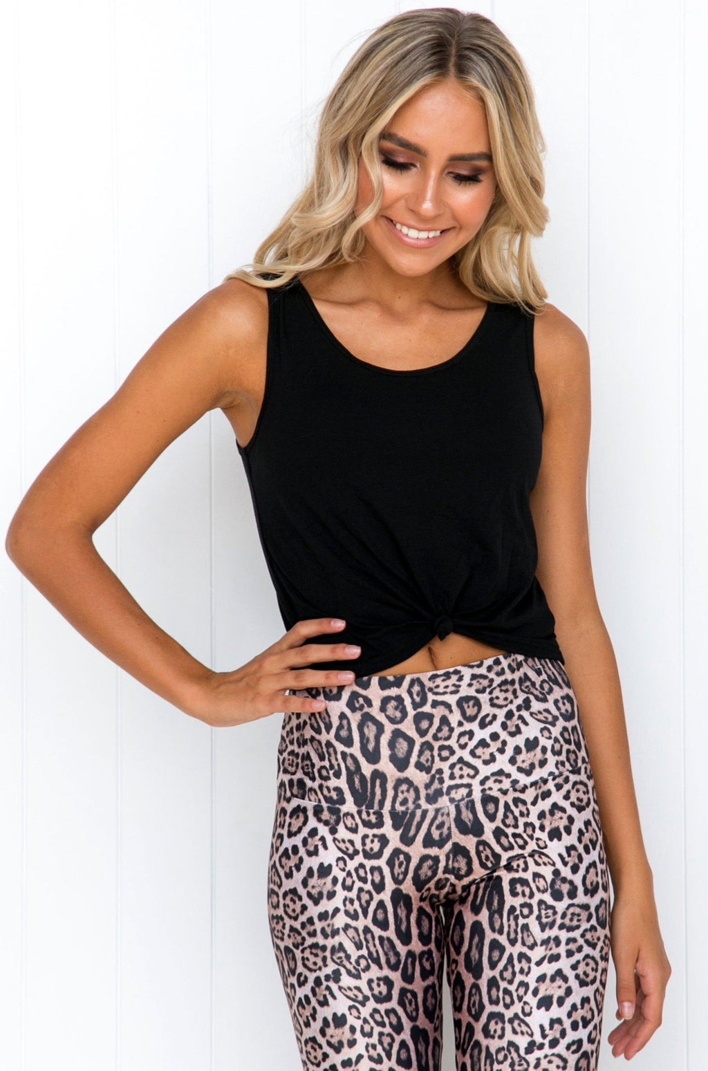 Knot Crop Top: Black - PURE DASH