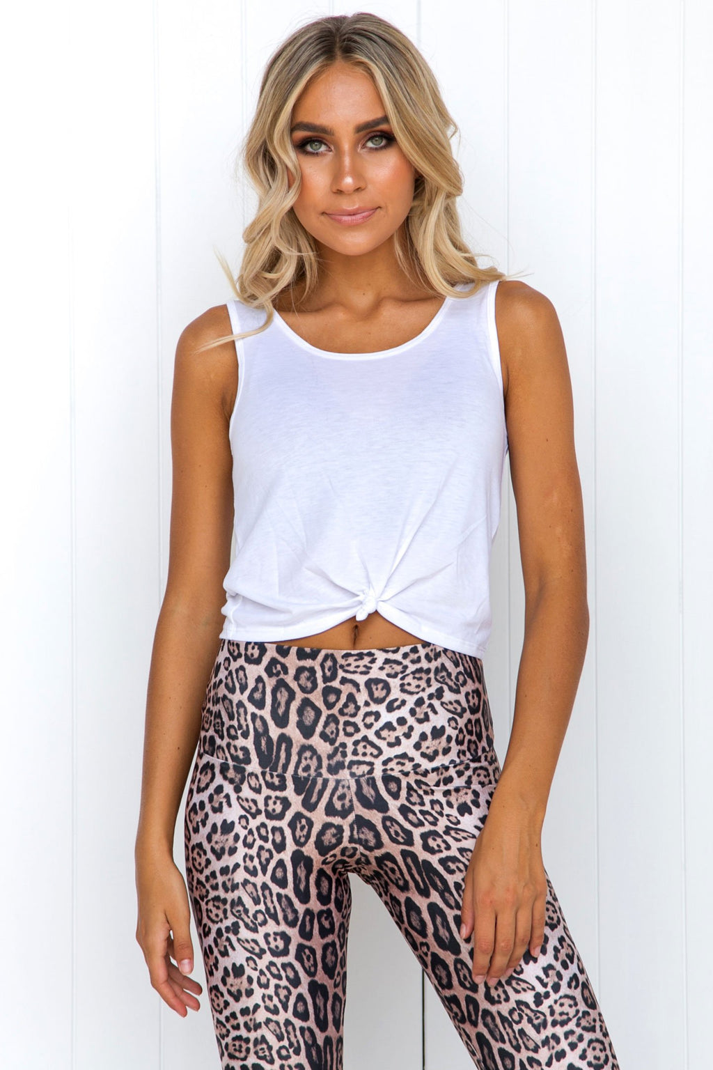 Knot Crop Top: White - PURE DASH