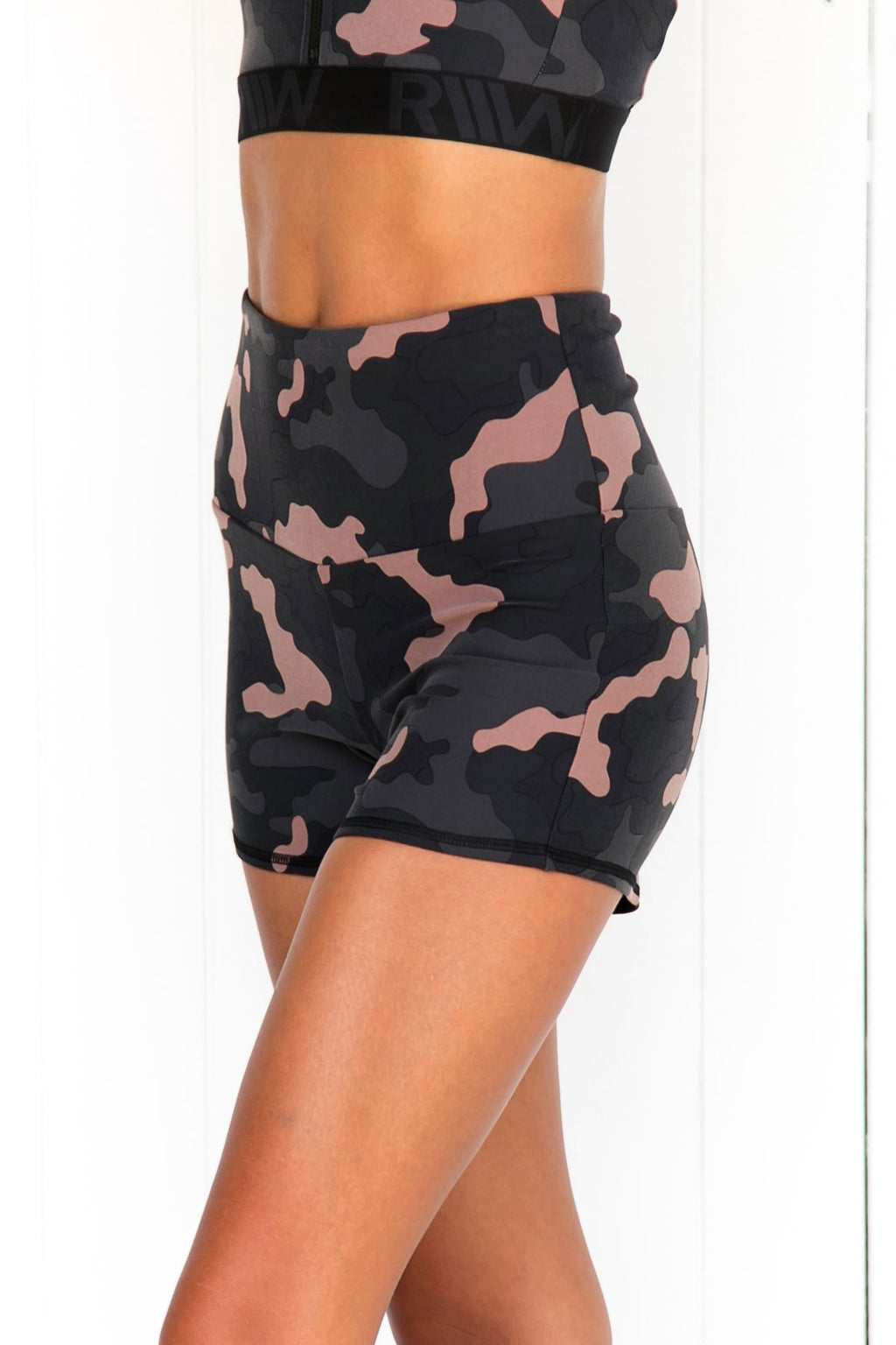 Camo High Waisted Shorts - PURE DASH
