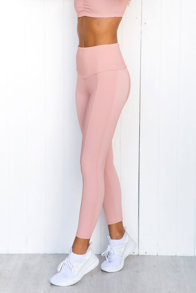 Sweetheart Midi Leggings - Apricot