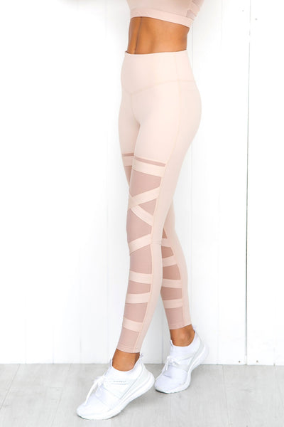 Black Swan Legging - Blush - PURE DASH