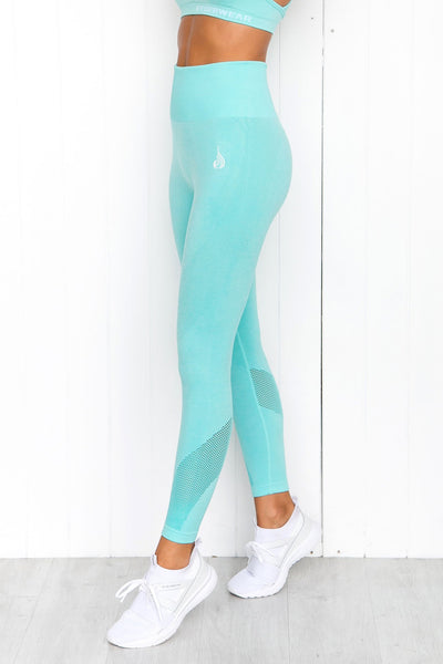 Seamless Tights - Aqua Marle