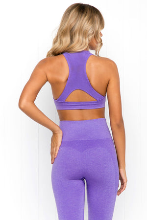Seamless Bra - Purple Marle - PURE DASH