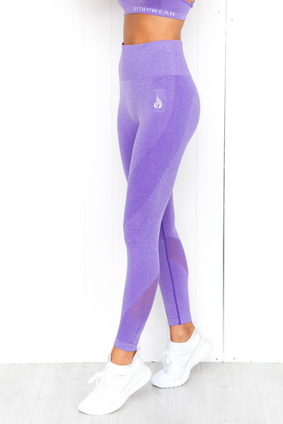 Seamless Tights - Purple Marle