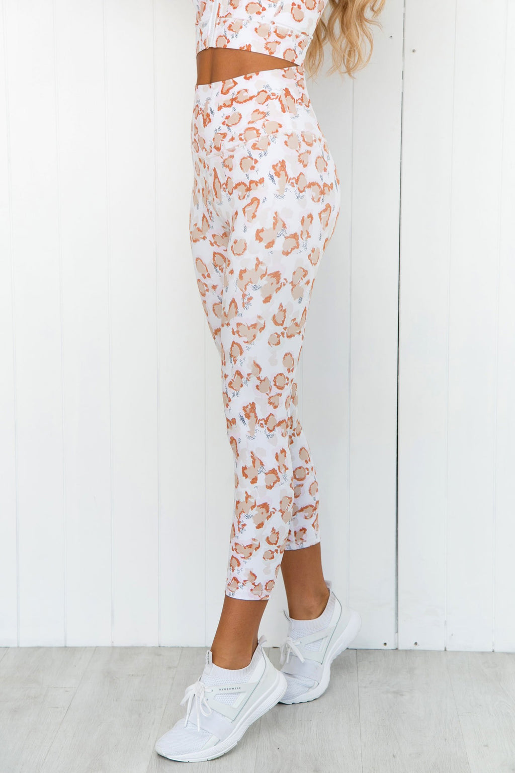 Dusty Leopard High Rise 7/8 Leggings - PURE DASH