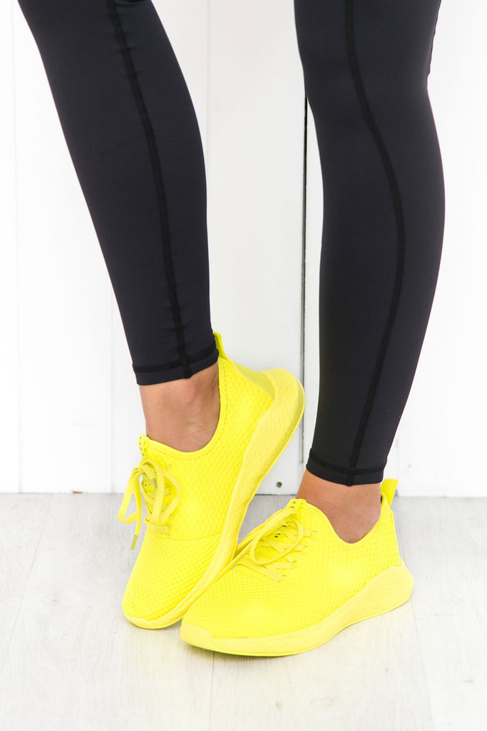 Neon Yellow Power Trainers - PURE DASH