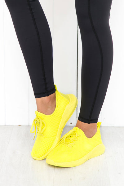 Neon Yellow Power Trainers