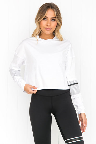 Margo Bright White Long Sleeve Tee