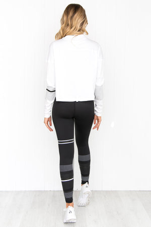 Margo Bright White Long Sleeve Tee - PURE DASH