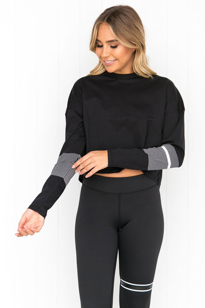 Margo Graphite Black Long Sleeve Tee