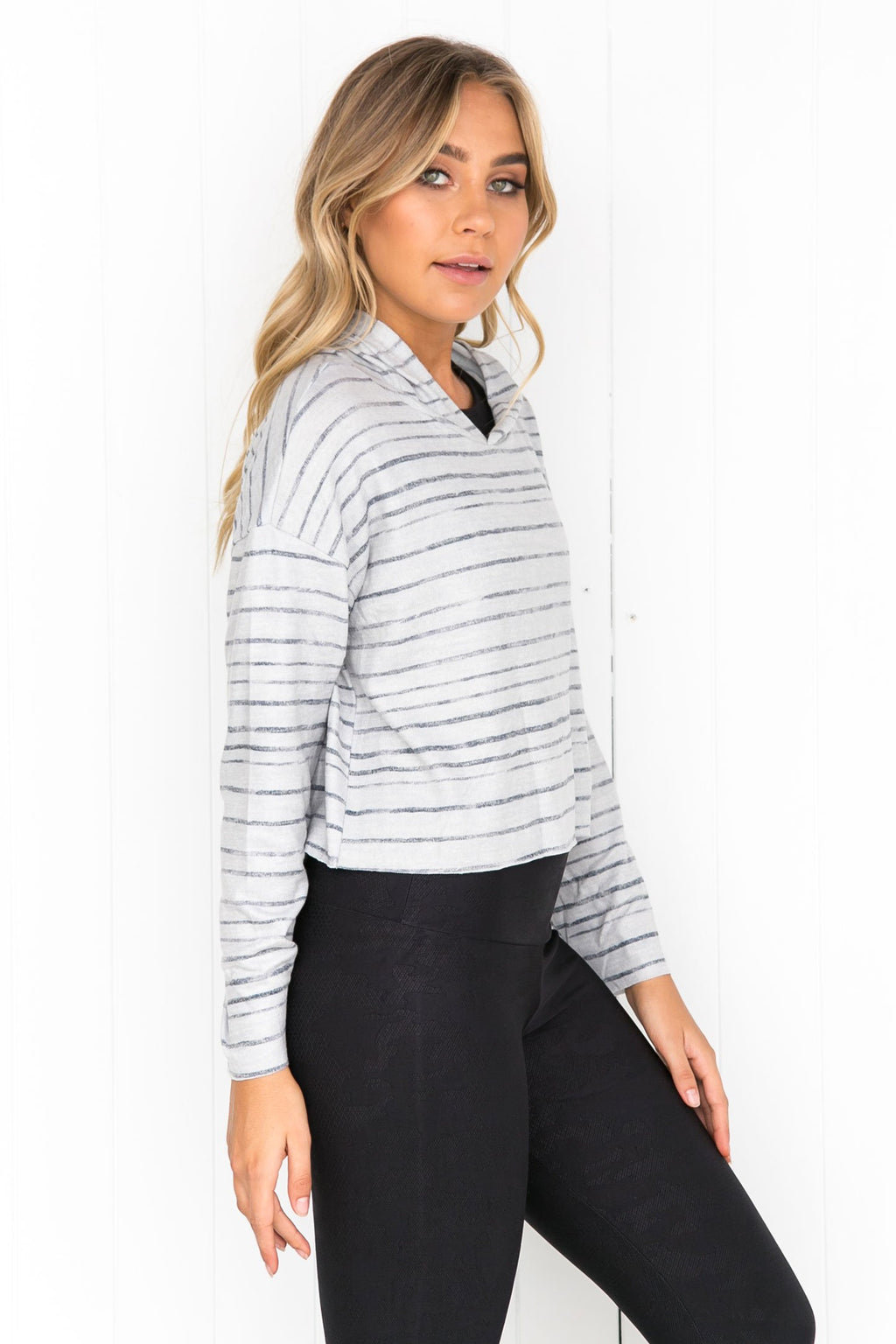 Weekend Crop Hoodie - Blurred Lines - PURE DASH