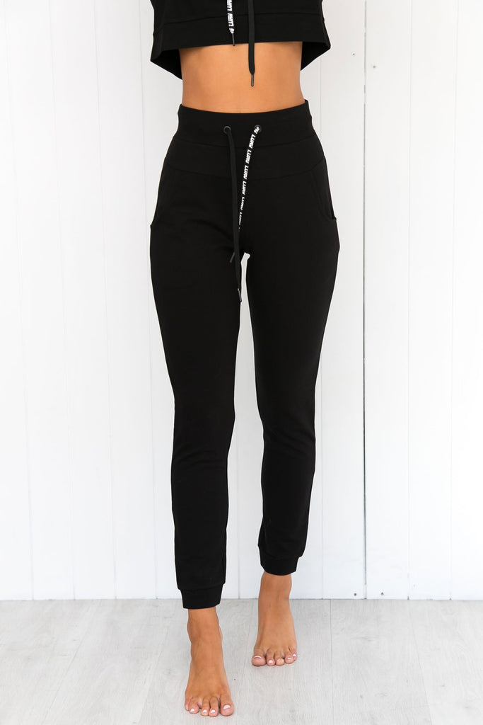 Double Play Track Pant - Black - PURE DASH