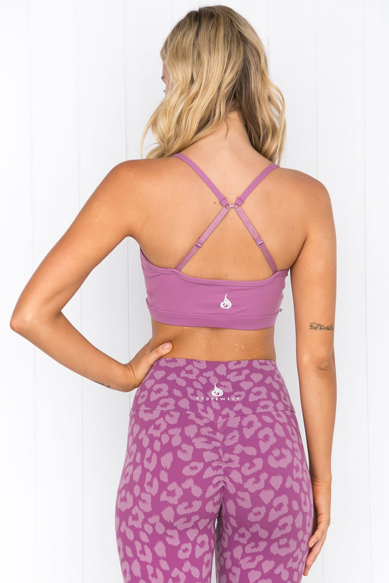 Animal Sports Bra - Purple - PURE DASH