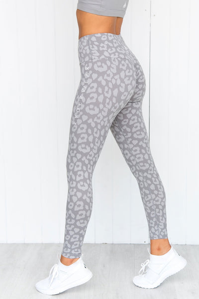 Instinct Scrunch Bum Leggings - Leopard Grey
