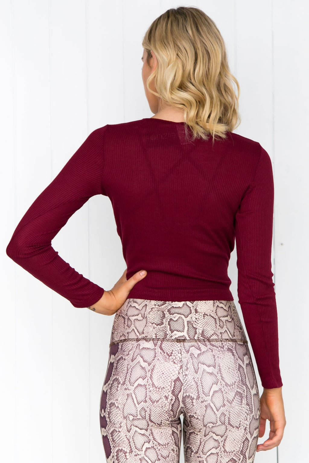 Twirl Top - Merlot - PURE DASH