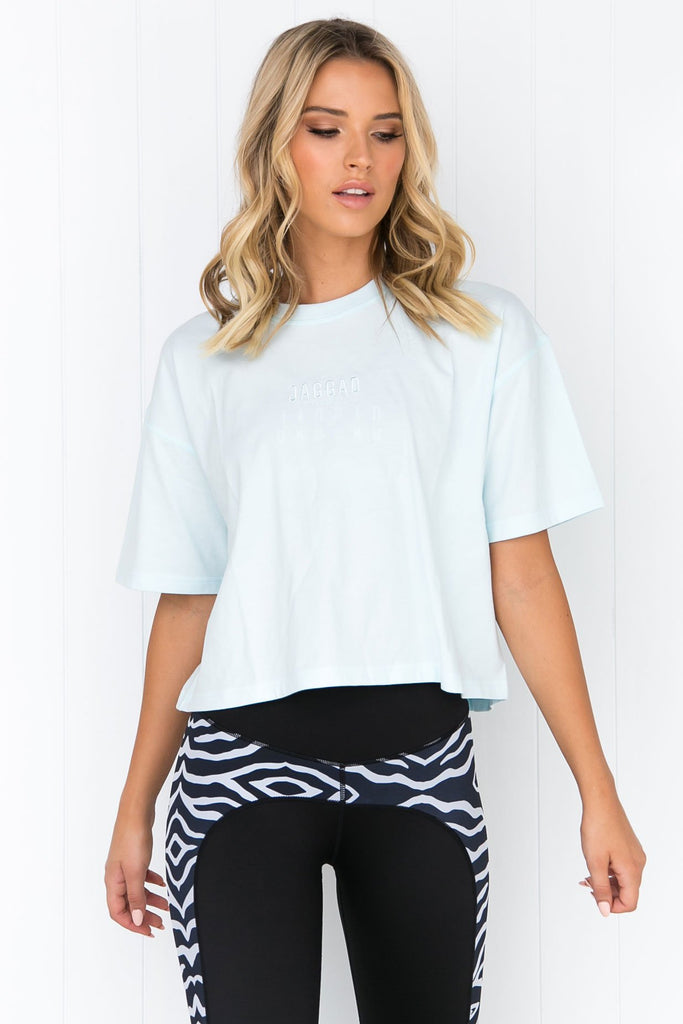 Core Crop Tee - Pastel Blue - PURE DASH