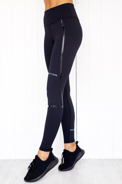 Arden Jet Black Leggings - PURE DASH