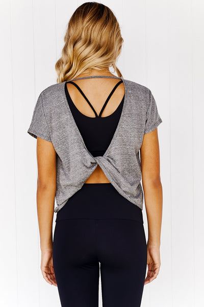 Swing Back Top - Heather Grey